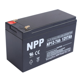 NPP Power AGM Blybatteri 12v 7,0Ah