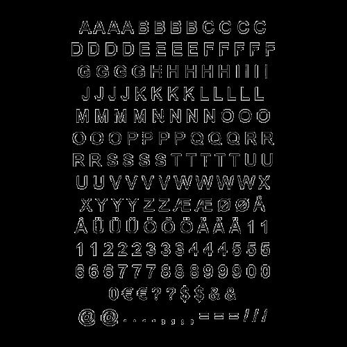 Ultramoderne Sorte selvklæbende tal & bogstaver 174 styk frit leveret dag til dag. ZG-56