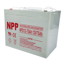 NPP Power Elscooter batteri 12v 75Ah