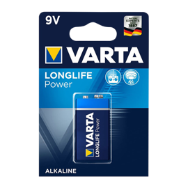 Varta 9V Longlife Power Alkaline batteri