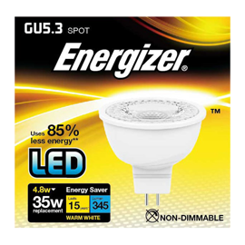 GU5.3 MR16 LED spot 4,8w 345lumen (35w)