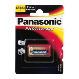 Panasonic CR123A 3V Lithium batteri foto / alarm