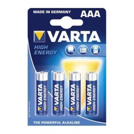 Varta LR03/AAA Alkaline High Energy batterier