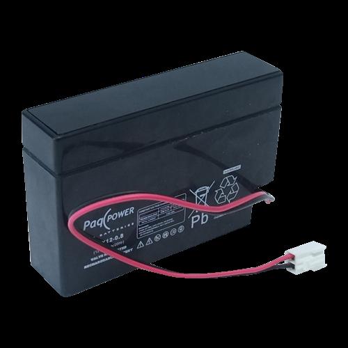 Prima 12v batteri til alarm med ledning og stik frit leveret AG-68