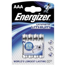 Energizer AAA Foto Lithium batterier